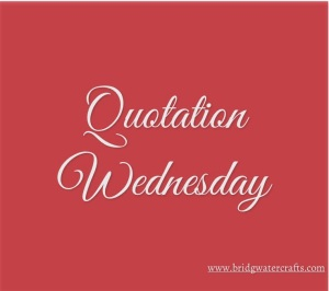 Quotation Wednesday red